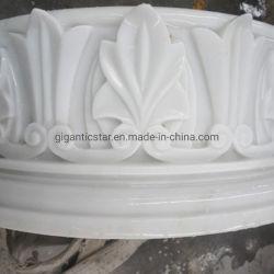 L'Albâtre/naturel en marbre blanc pur de sculpture sur pierre pour la décoration de l'image de secours de la construction bâtiment House Hotel