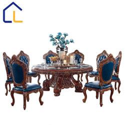 Старинная обеденный стол, 6 стула столовой устанавливает деревянный стол
