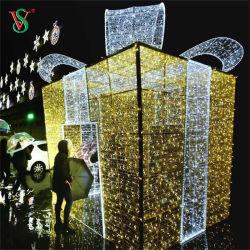 Luce da regalo Navidad 3D da esterno impermeabile per Decorazione di Natale