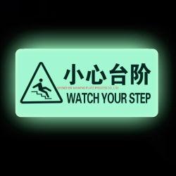 빛난 주문 방향 자동 접착 어두운 Gleamy 전기 경고 비상사태 안전 표시 없음
