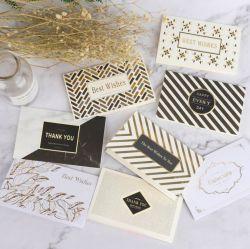 Papier d'art de cartes de voeux personnalisées avec enveloppes