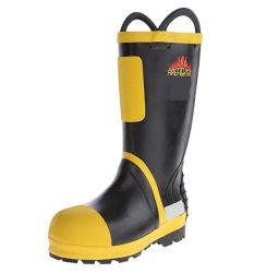 Bombero gruesa resistente al agua de lluvia botas resistentes al desgaste