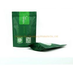 De berijpte Kleine Tribune van het Slot van de Ritssluiting van het Blad van de Koffie van de Thee Matcha op de Verpakking van de Rang van het Voedsel van de Zak van de Zak