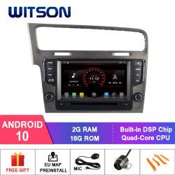 Witson Quad-Core Android 10 coche reproductor de DVD para VW G0LF 7 gris (Frame) Pantalla Capactive 1024*600
