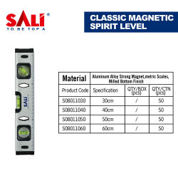 Sali Good Quality Hand Tool Classic Magnetic Spirit Level