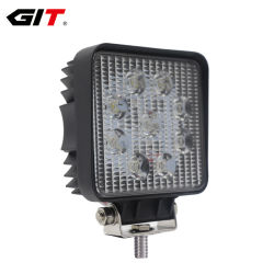 Resistente al agua 12V 27W LED de 4 pulgadas de la luz de trabajo para el coche de la máquina de camiones Offroad (GT1007-27W)