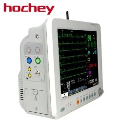 Hochey Cardiac Monitor Cardiac Monitor معظم العلامات الحيوية متعددة المعلمات الأكثر شيوعاً جهاز مراقبة القلب المزود ببطارية ليثيوم 8 بوصات
