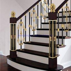 Gold Color modern Fashion Aluminium en messing Balustrade voor Villa Project