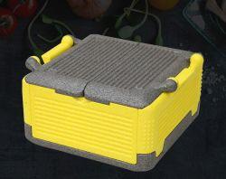 Casella pieghevole del dispositivo di raffreddamento di consegna della casella della gomma piuma di EPP