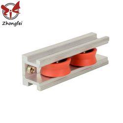 El aluminio/Tripleplastic simple/doble polea de Nylon ruedas de puerta deslizante Accesorios Rodillos