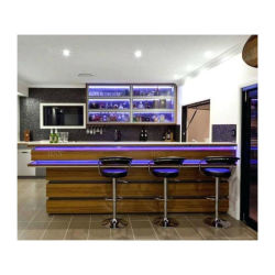 Mini-bar de madera muebles mueble bar de vinos en casa de lujo en piedra artificial colgando de la esquina moderno mueble bar
