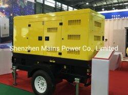 Générateur diesel Silent Canopy mobile de remorque 200 kVA 160 kw puissance continue