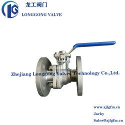 JIS 10K 20K in pieno alesano la valvola a sfera di galleggiamento della flangia del Teflon dell'acciaio inossidabile 2PC dell'acciaio di getto di industria con il rilievo montato ISO5211 Wcb/SS304/SS316