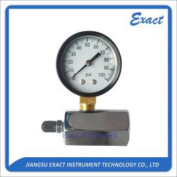 Gas-Prüfungs-Druck-Abmessen-Schwarzer Stahltyp Manometer-Chromierte überzogene Prüfungs-Karosserie