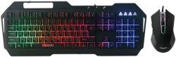 Mouse ad alto livello di gioco, tastiera combinata, tastiera di gioco del metallo, simile disegno meccanico, mouse di gioco 6D: 800/1200/1600/2400 di Dpi