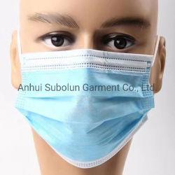割引使い捨ての快適な、 3 層の通気性医療用フェイスマスク