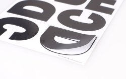 Custom EVA Letter Number Alphabet Die Cut Paper GLitter Stickers لكتاب القصاصات للأطفال
