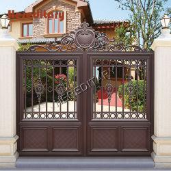 Portão de ferro forjado moderno/Alumínio Portões Automáticos para decoração Villas