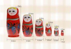 5개 러시 네스팅 인형 믹스, 17cm 마트리오스카, 러시아 민속 예술