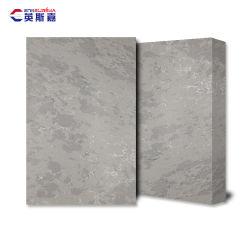 Venda por grosso agregado Fino Syntenic branco tamanho maior cor estatuária de Areia Milky Smokey Calacatta minério de laje de quartzo Bom Preço