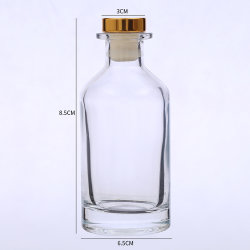 50 ml High Quality Clear Empty Aroma Reed Diffuser-fles Parfum Glazen fles met stopper groothandel