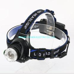 충전식 배터리가 장착된 Yichen Classic 300 Lumen 줌 가능 LED 헤드램프 어댑터