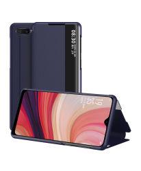 حقيبة قابلة للطي Smart View نافذة الهاتف علبة الهاتف PU خلية جلدية غطاء الهاتف لـ Oppo