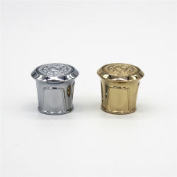 カスタム贅沢な亜鉛合金はダイカストの帽子の金属の香水の帽子のビンの王冠のZamacのビンの王冠を