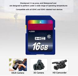 Venda por grosso de cartão de memória de 8 GB, 16GB, 32GB, 64GB Cartão SD SDHC de Classe 10 Cartão Sdxc C10 Capacidade real