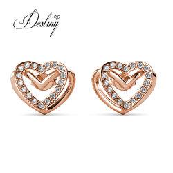 القلب المحبب الجميل ذو أحجار الراين النمساوية عالية الجودة والمحبب