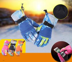 Luvas de esqui no Inverno e quente à prova de pelúcia Non-Slip respirável luvas de neve para Mens, mulheres, senhoras e crianças Esqui Snowboard Sports