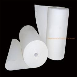 1.260 c 2300f refractario de lana de fibra de algodón de fibra cerámica de aislamiento térmico de papel para cable eléctrico y horno de la estufa para el horno Wahser puerta cortafuego de sellado