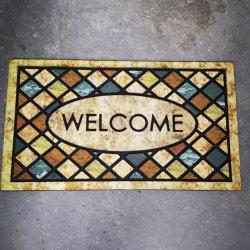 Stuoie di portello domestiche benvenute con l'affollamento delle stuoie di gomma per le stuoie di portello dell'entrata