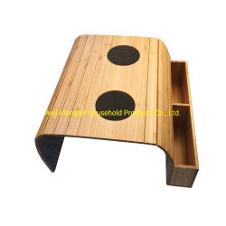 EVA 베이스가 있는 소파 트레이 테이블. 리모컨과 핸드폰줄 오거나이저 홀더, 팔걸이 오거나이저, 포켓이 있는 팔걸이 테이블