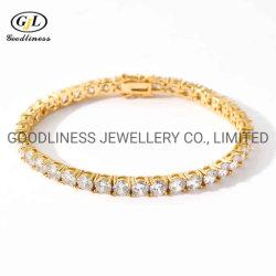단 하나 줄 다이아몬드 테니스 팔찌 (580319397691)가 5mm에 의하여 밖으로 얼렸다 힙합 보석