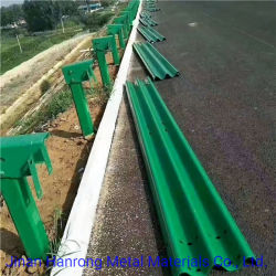 La seguridad del tráfico valla de acero galvanizado haz W Highway barandilla de seguridad vial