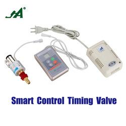 Ja8801um alarme de fluxo através do sistema sem fio de corte automático de GPL do Temporizador do detector de gás da válvula de esfera de Hardware de Segurança Fogão Cook latão auto Corte da Válvula de Alívio
