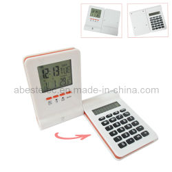 8 cifre Desktop Calculator con Calendar Clock