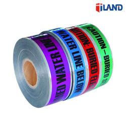 Aluminiumfolie-unterirdisch nachweisbares warnendes Band-Barrikade-Band