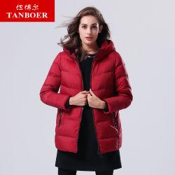 Tanboer mulheres casacos para baixo Estilo Middle-Long Quente Casacos de Inverno para Mulheres Camada Moda roupas de inverno por grosso