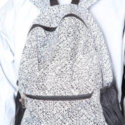 Panno stampato riflettente dell'argento del reticolo di modo del tessuto per l'abbigliamento di sport