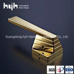 Hyh marque simple moderne de haute qualité de conception de meubles en alliage de zinc de poignée de porte à porte en bois