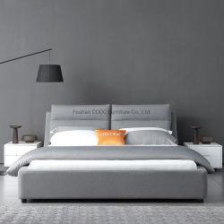Base molle della camera da letto della mobilia del tessuto grigio moderno di alta qualità