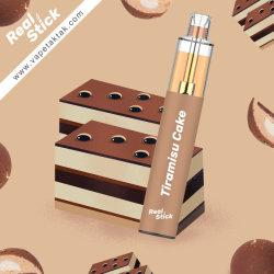 Stick Real Venta caliente 950 mAh OEM bocanadas de 5,0 ml 0~51200 mg de nicotina La nicotina o sintéticos de Vape desechable cigarrillo Pen E E-Cig Puff más ricos sabores tiramisú