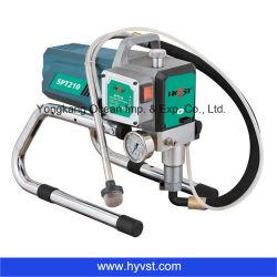Spruzzatore senz'aria ad alta pressione elettrico della vernice della pompa a pistone Spt210
