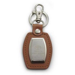 Loja em pele verdadeira cadeia Chave Grosso Chaveiro de metal personalizada