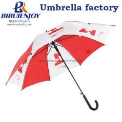 """Presupuesto de impresión de logotipo personalizado de la lluvia paraguas de sol con Crook asa para regalos/publicidad/promoción 23"""""""