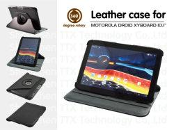 Het nieuwe Roterende Geval van het Leer voor Motorola Driod Xyboard 10.1 Duim het Geval van het Leer van PC van de Tablet van 360 Graad