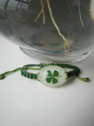 Bracelete de flores naturais real joalharia