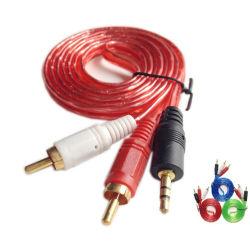 오디오 비디오 케이블 RCA 케이블 2RCA - 3.5 스테레오 투명 케이블